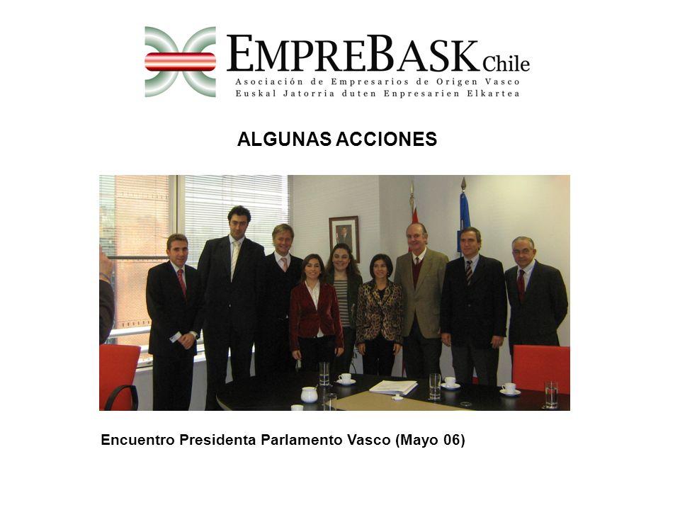 ALGUNAS ACCIONES Encuentro Presidenta Parlamento Vasco (Mayo 06)