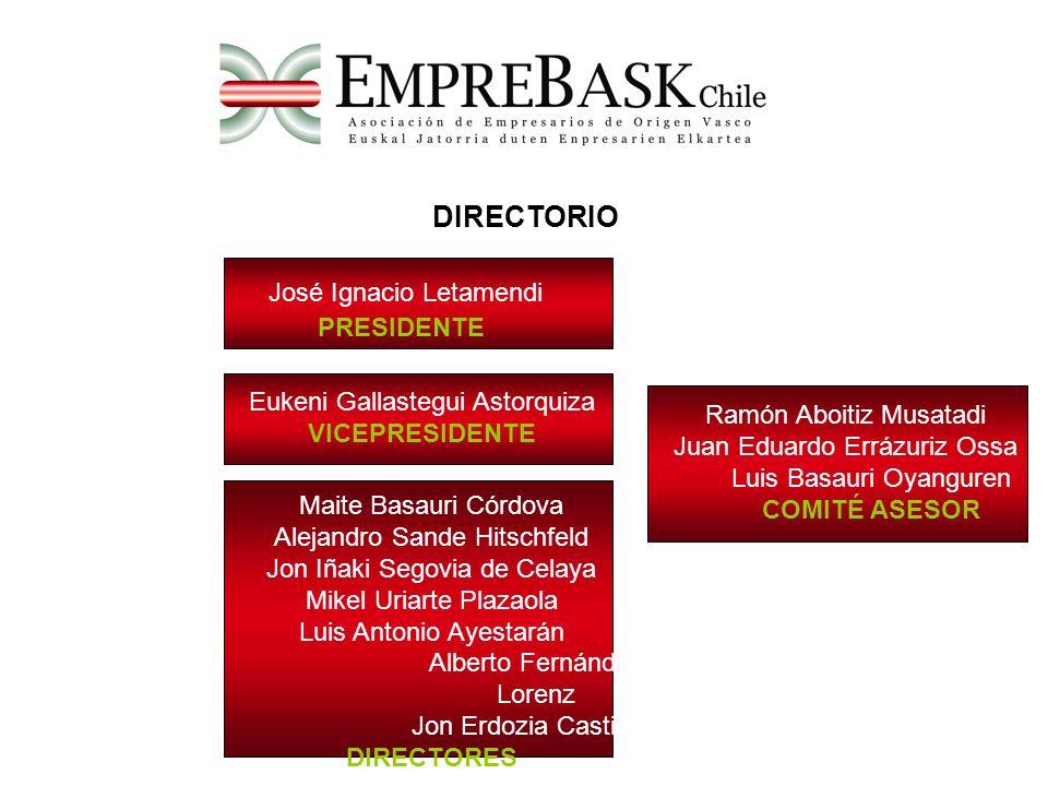 DIRECTORIO José Ignacio Letamendi PRESIDENTE