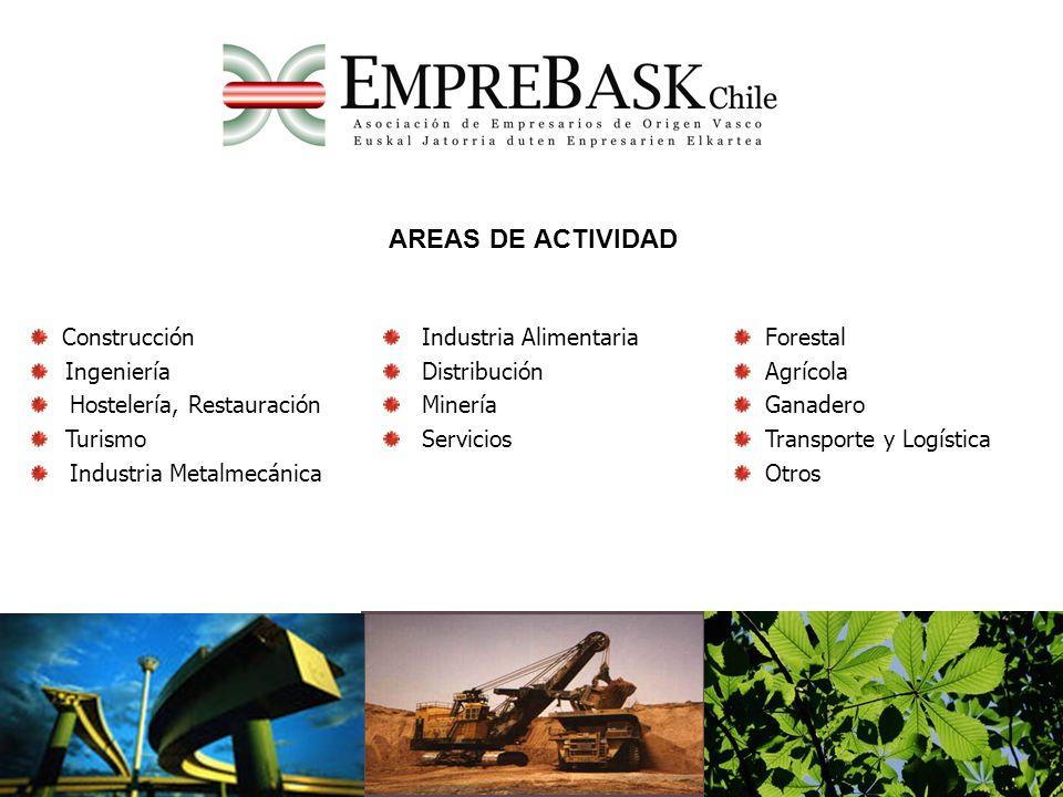 AREAS DE ACTIVIDAD Construcción Ingeniería Hostelería, Restauración