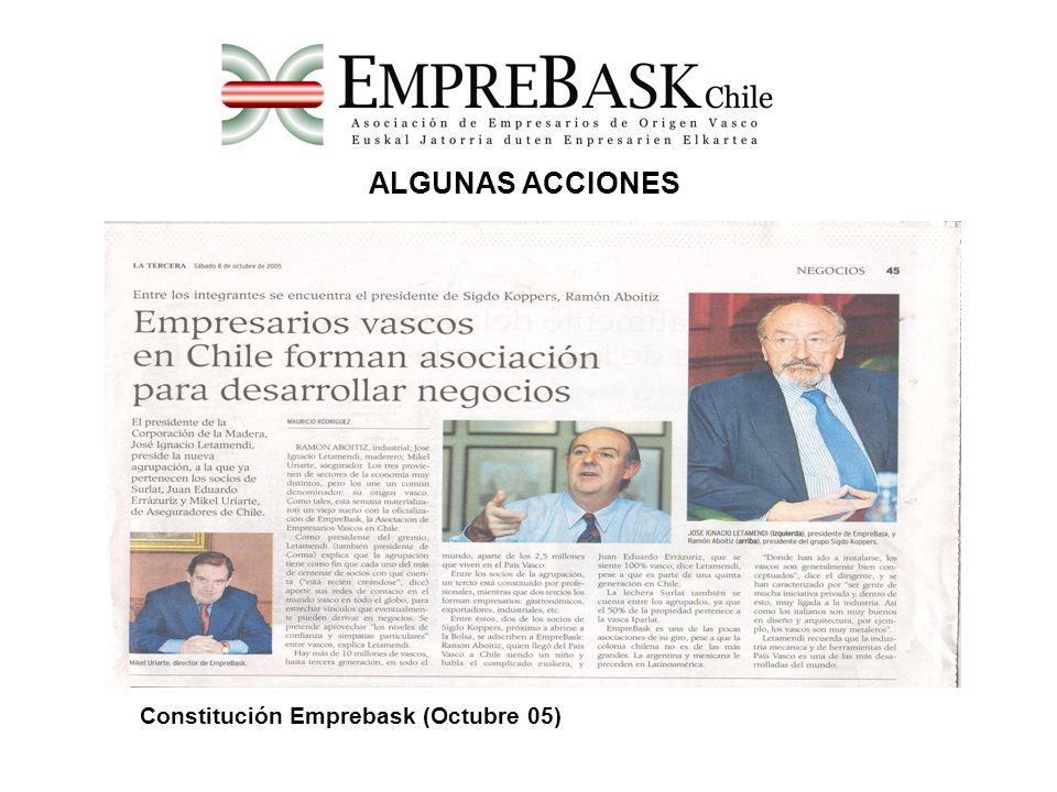 ALGUNAS ACCIONES Constitución Emprebask (Octubre 05)
