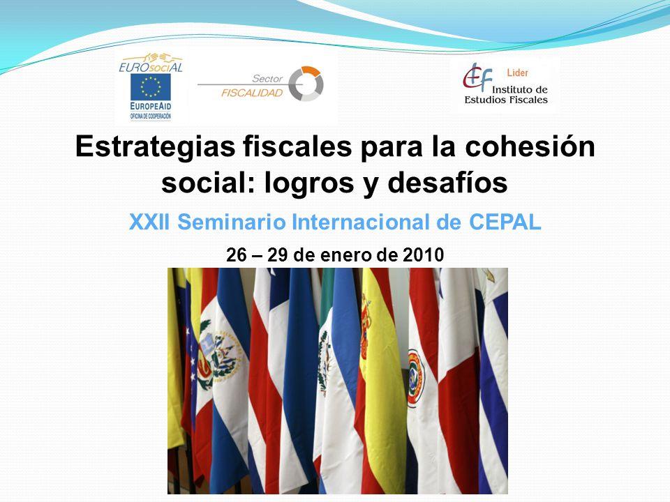 Estrategias fiscales para la cohesión social: logros y desafíos
