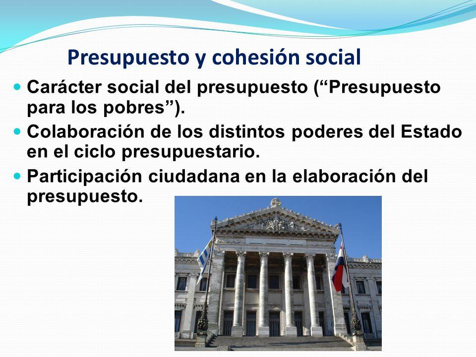 Presupuesto y cohesión social