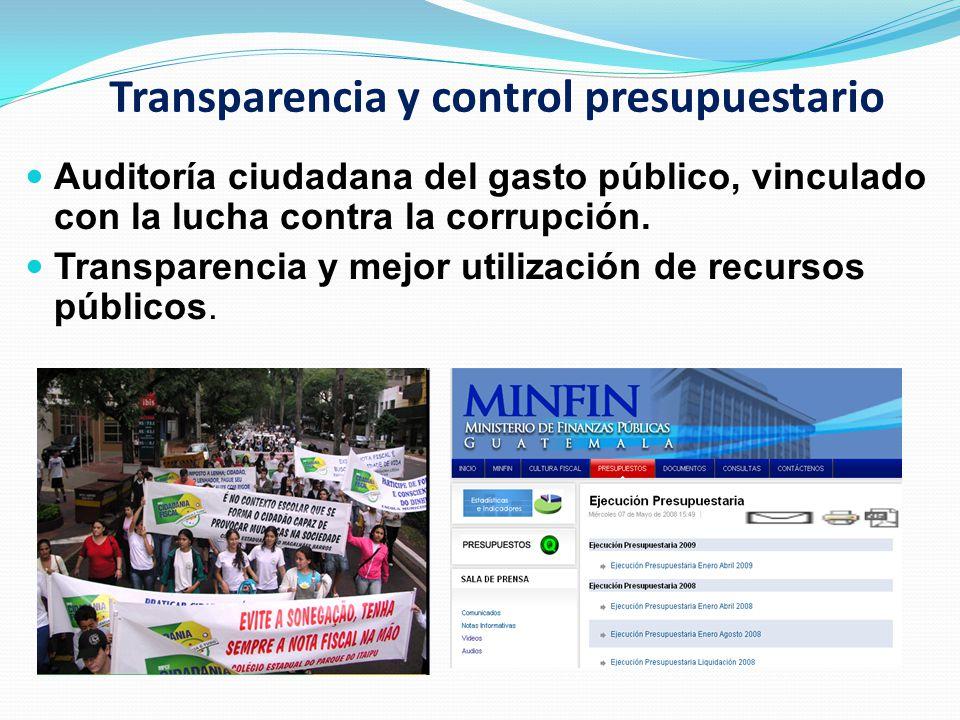 Transparencia y control presupuestario