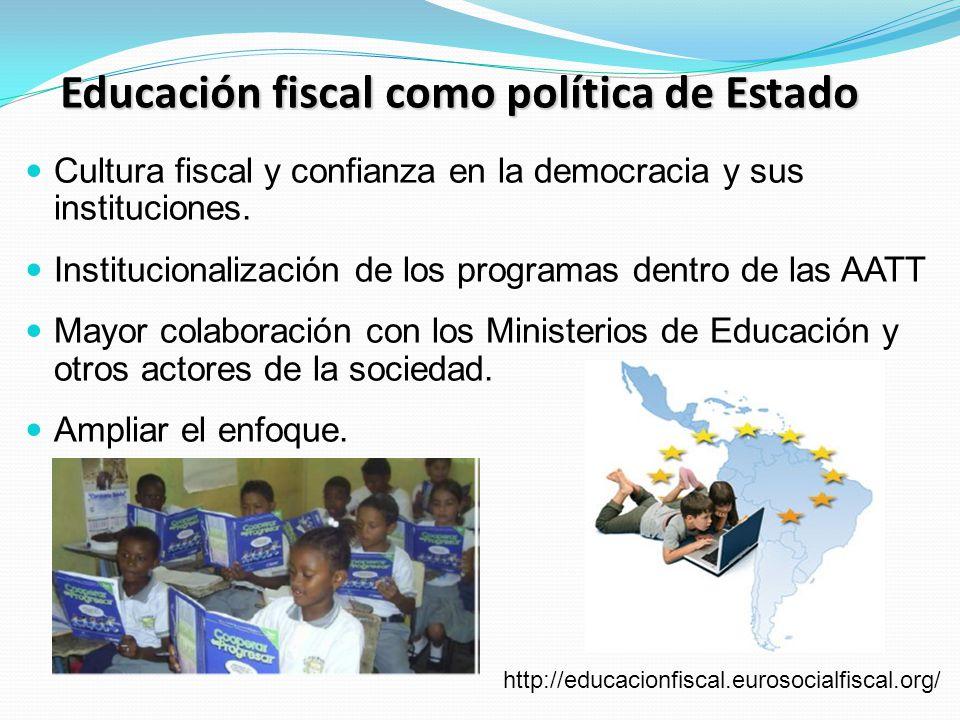 Educación fiscal como política de Estado