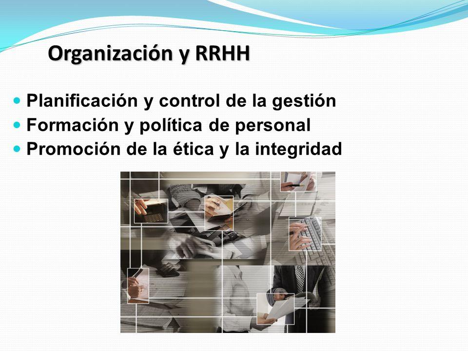 Organización y RRHH Planificación y control de la gestión