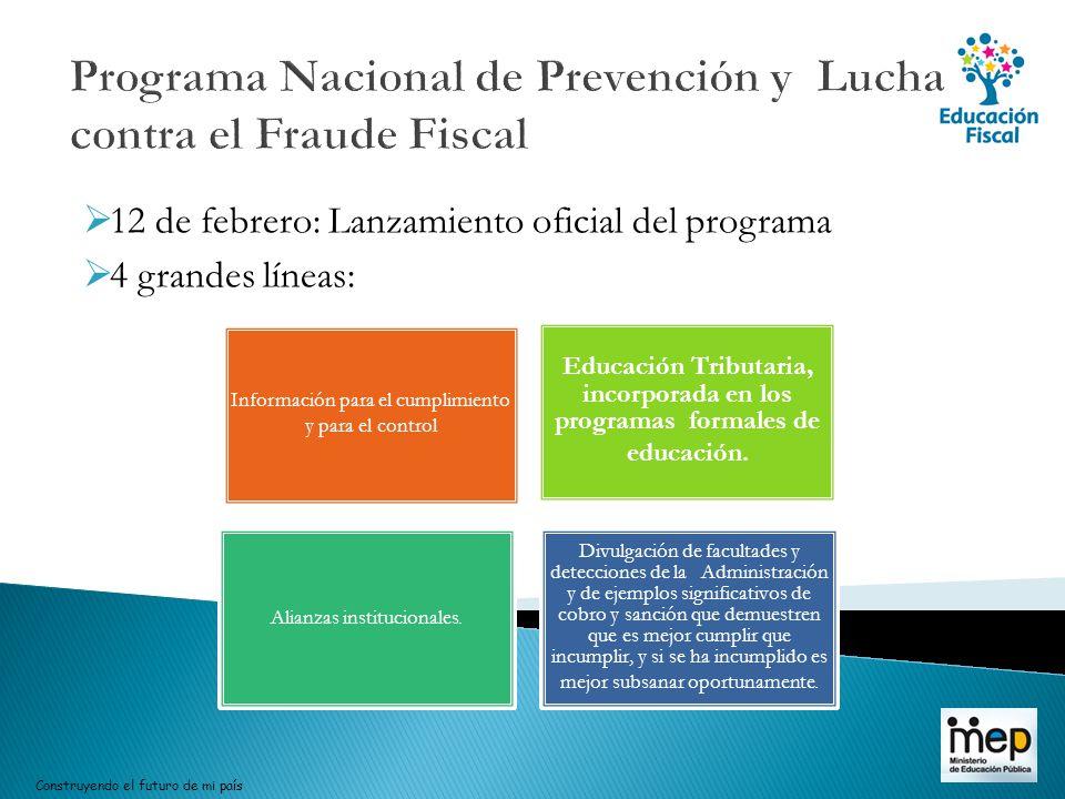 Programa Nacional de Prevención y Lucha contra el Fraude Fiscal