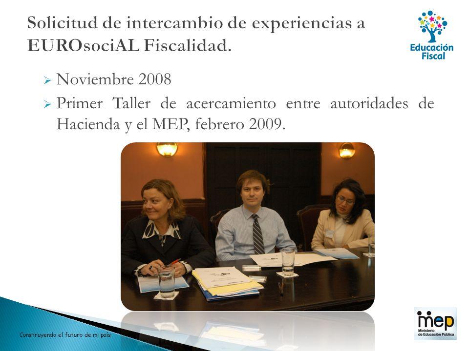 Solicitud de intercambio de experiencias a EUROsociAL Fiscalidad.