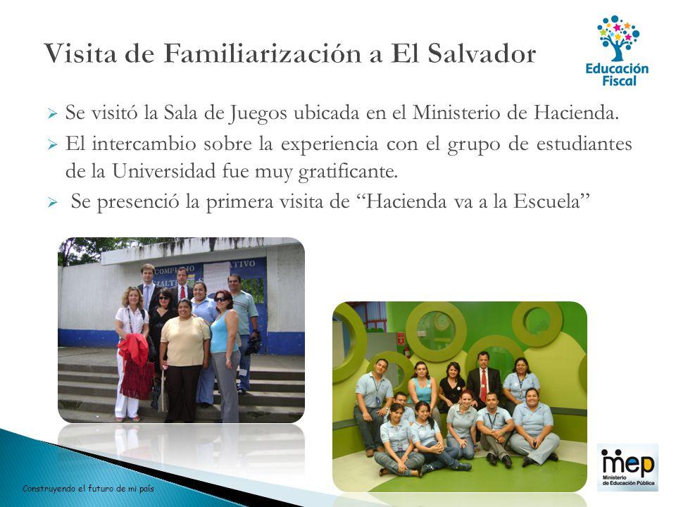 Visita de Familiarización a El Salvador