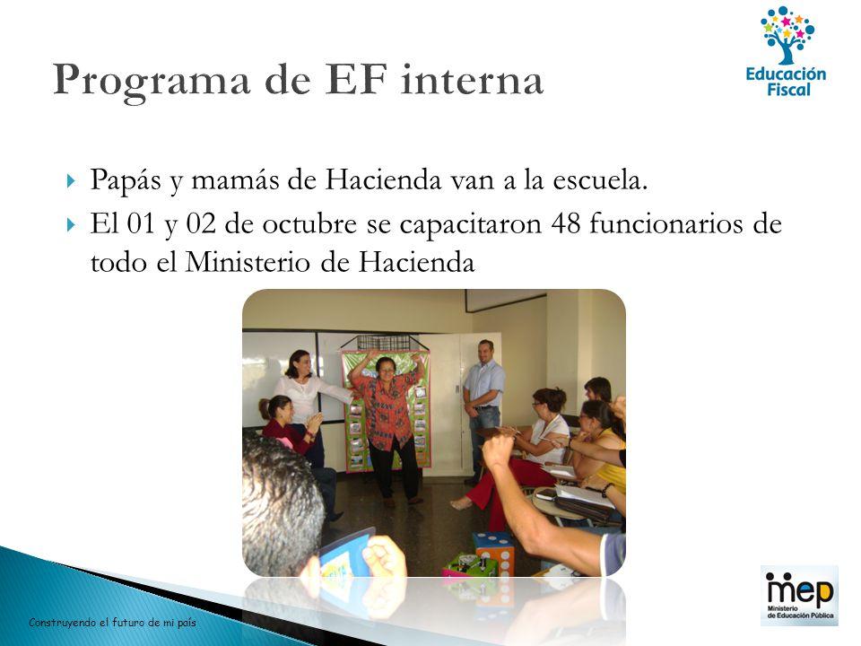 Programa de EF interna Papás y mamás de Hacienda van a la escuela.