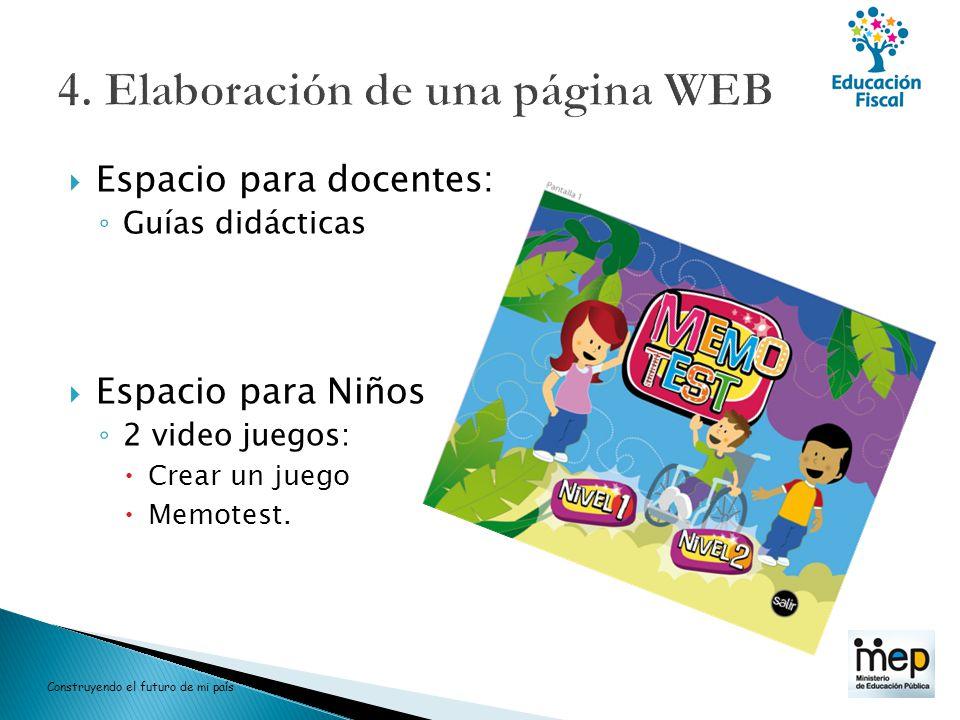 4. Elaboración de una página WEB