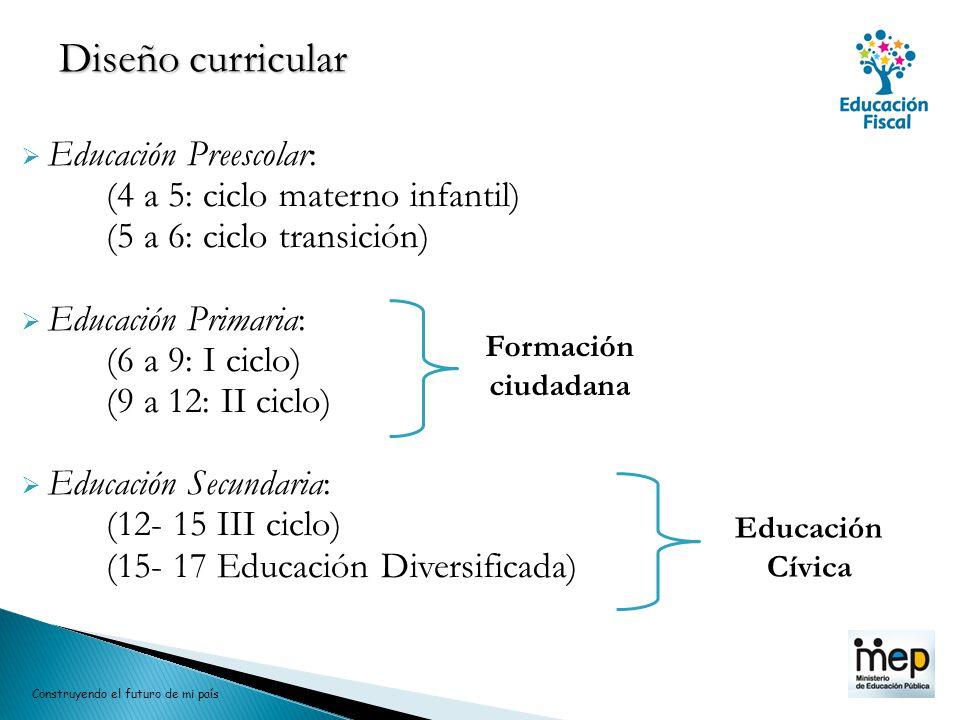 Diseño curricular Educación Preescolar: