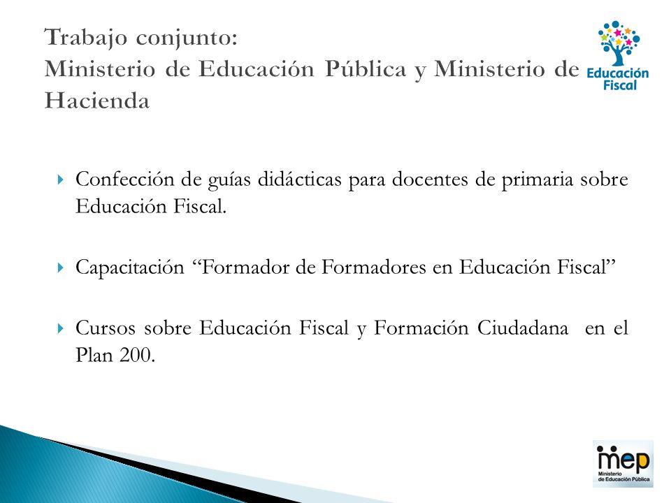 Trabajo conjunto: Ministerio de Educación Pública y Ministerio de Hacienda