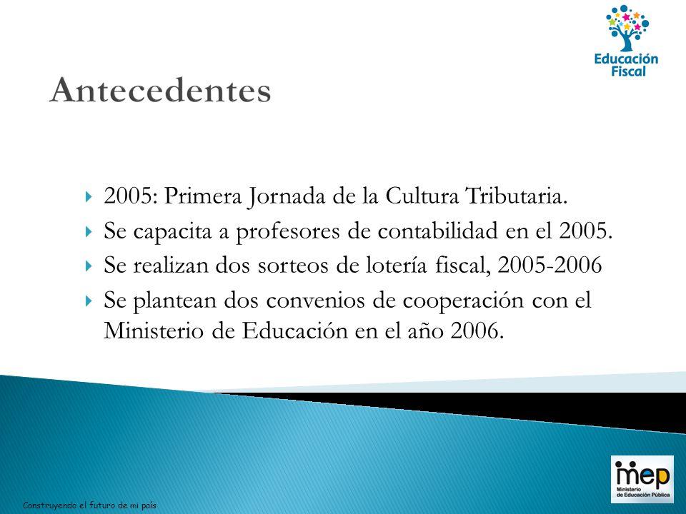 2005: Primera Jornada de la Cultura Tributaria.