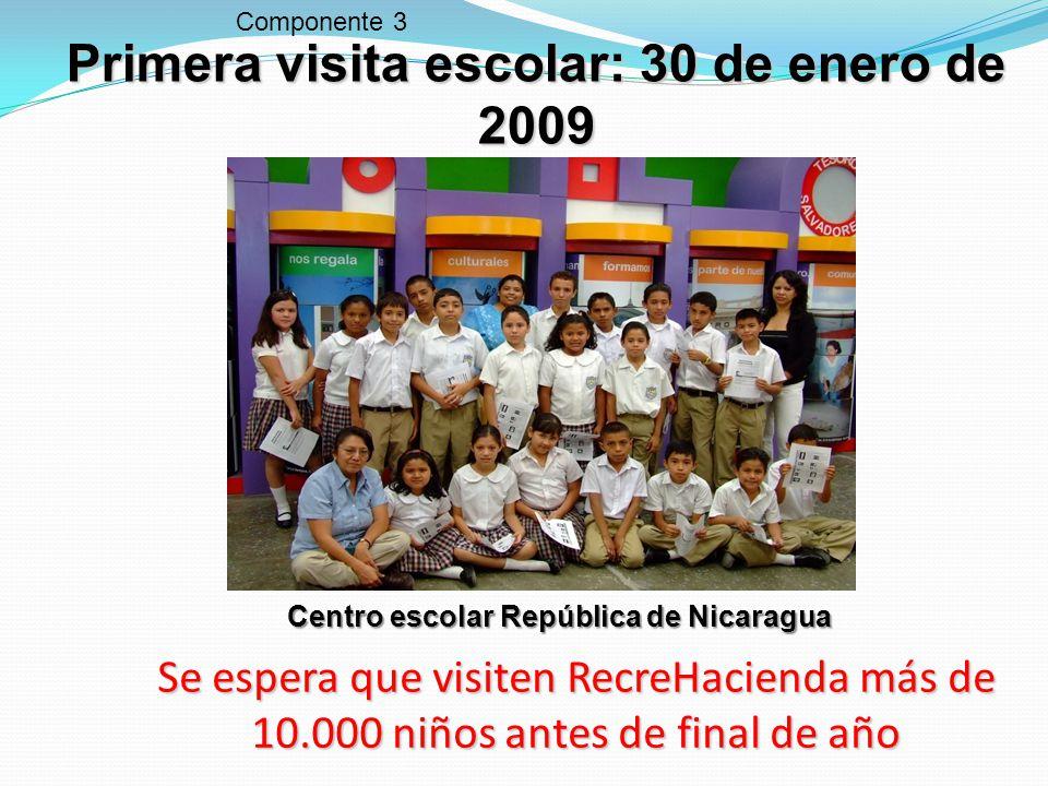 Primera visita escolar: 30 de enero de 2009