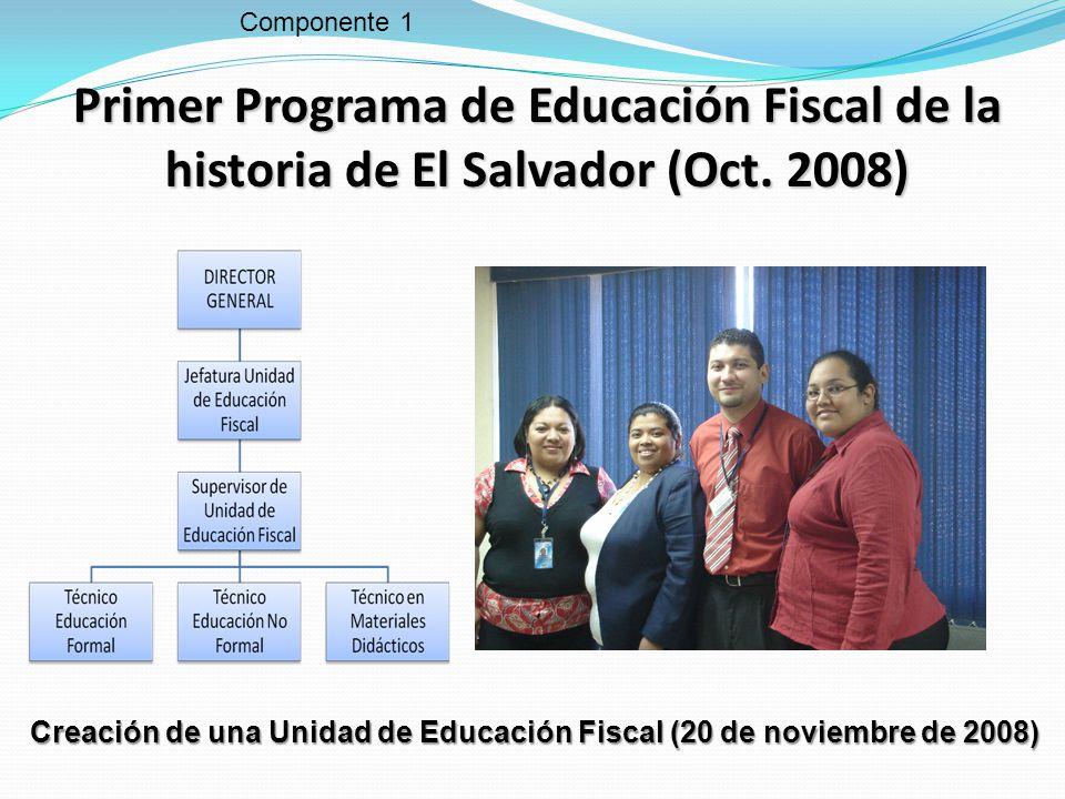Creación de una Unidad de Educación Fiscal (20 de noviembre de 2008)