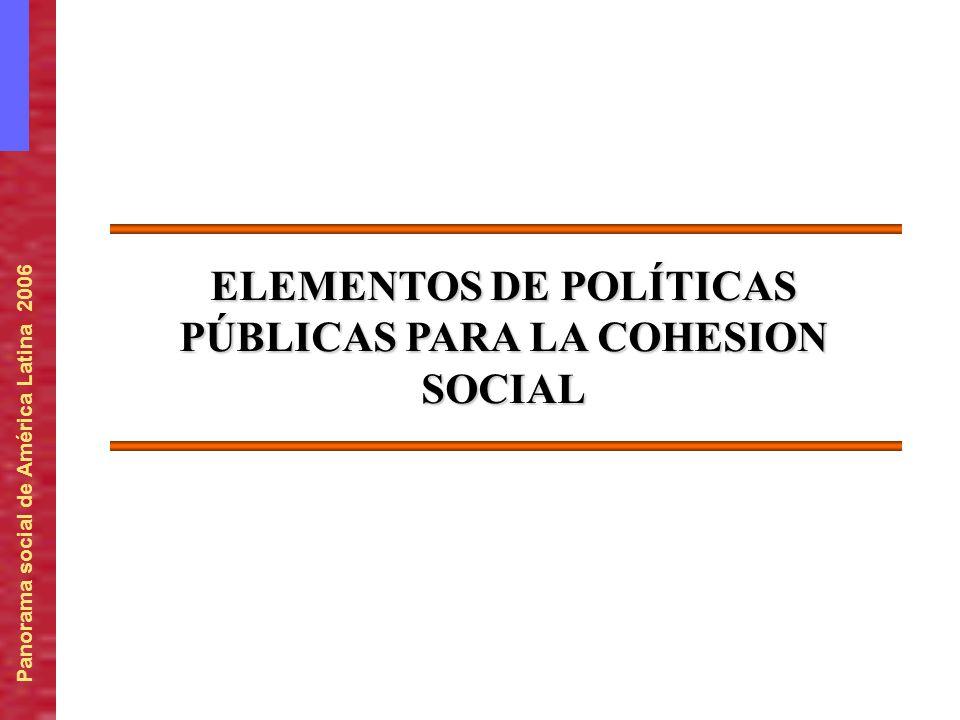 ELEMENTOS DE POLÍTICAS PÚBLICAS PARA LA COHESION SOCIAL