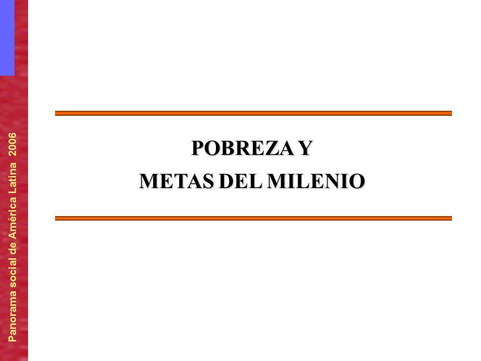 POBREZA Y METAS DEL MILENIO