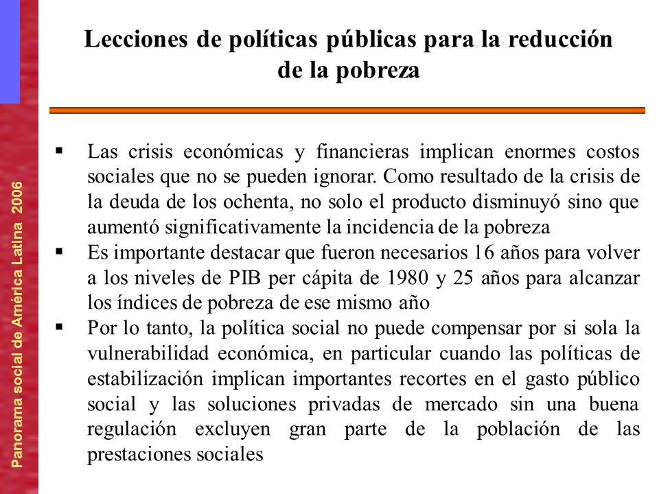 Lecciones de políticas públicas para la reducción de la pobreza