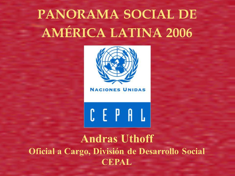 Andras Uthoff Oficial a Cargo, División de Desarrollo Social CEPAL