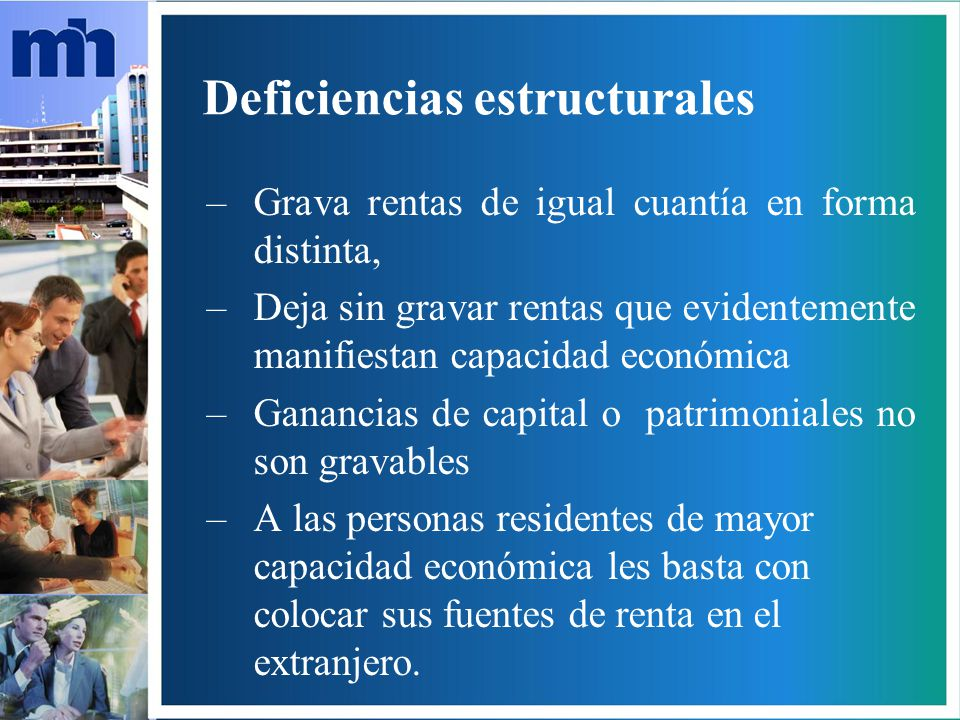 Deficiencias estructurales
