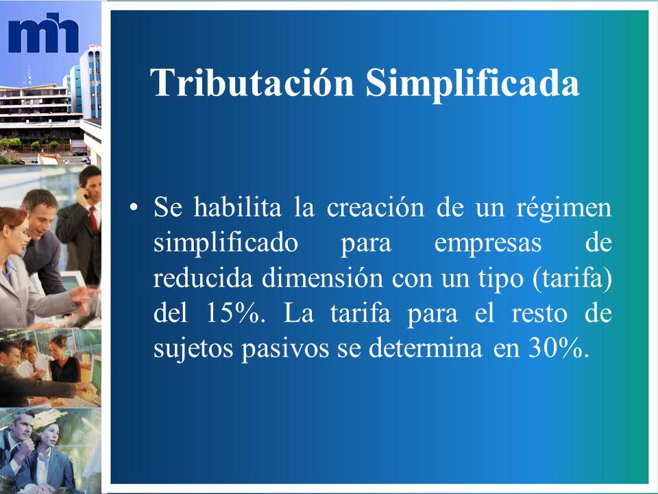 Tributación Simplificada
