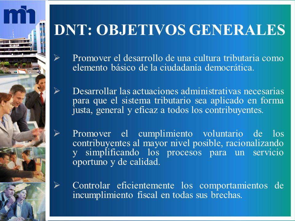 DNT: OBJETIVOS GENERALES