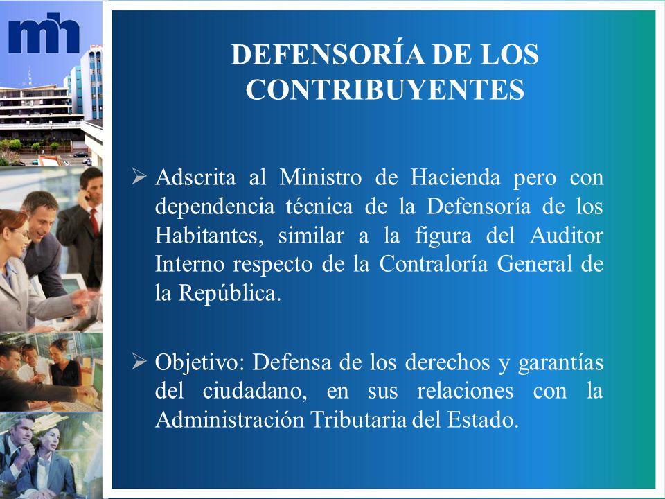 DEFENSORÍA DE LOS CONTRIBUYENTES