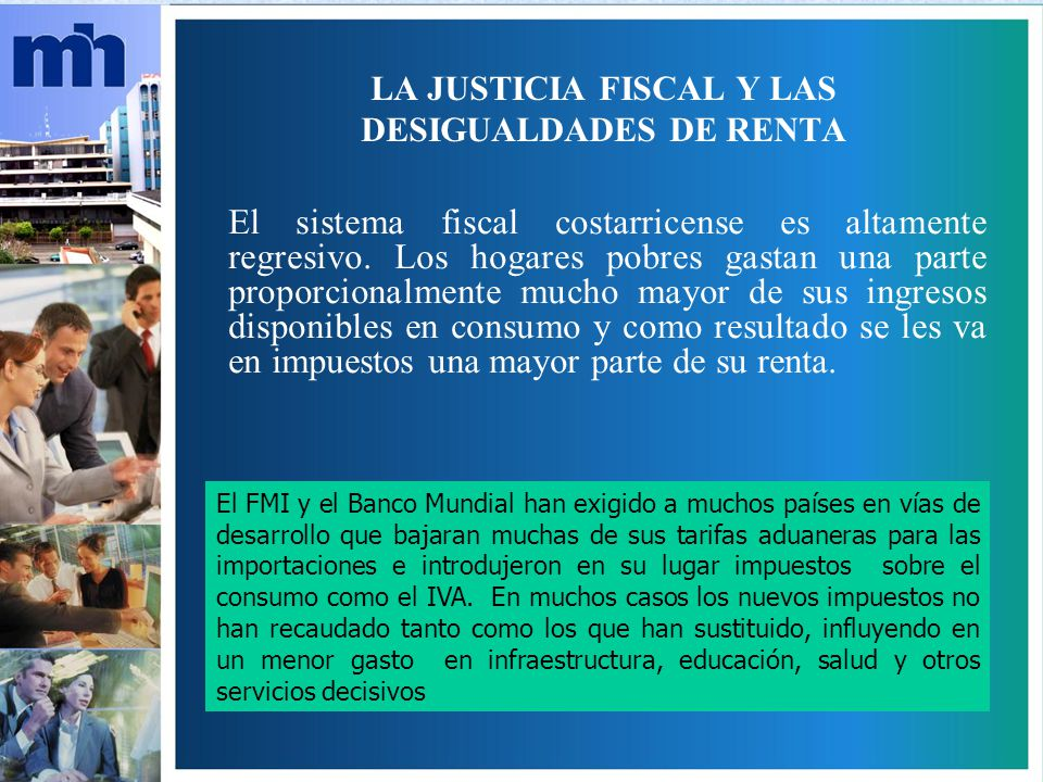 LA JUSTICIA FISCAL Y LAS DESIGUALDADES DE RENTA