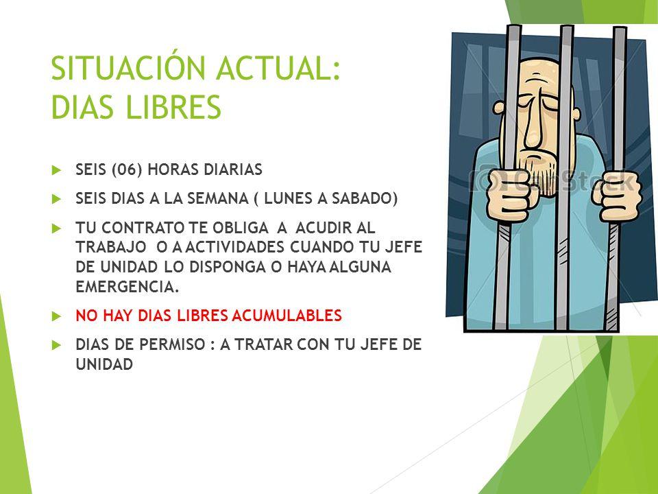 SITUACIÓN ACTUAL: DIAS LIBRES