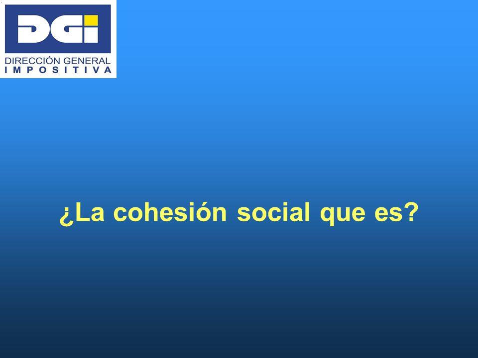 ¿La cohesión social que es