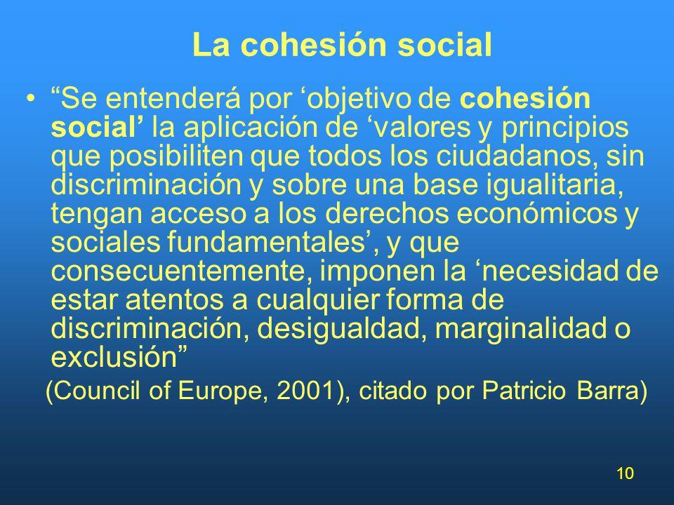 (Council of Europe, 2001), citado por Patricio Barra)