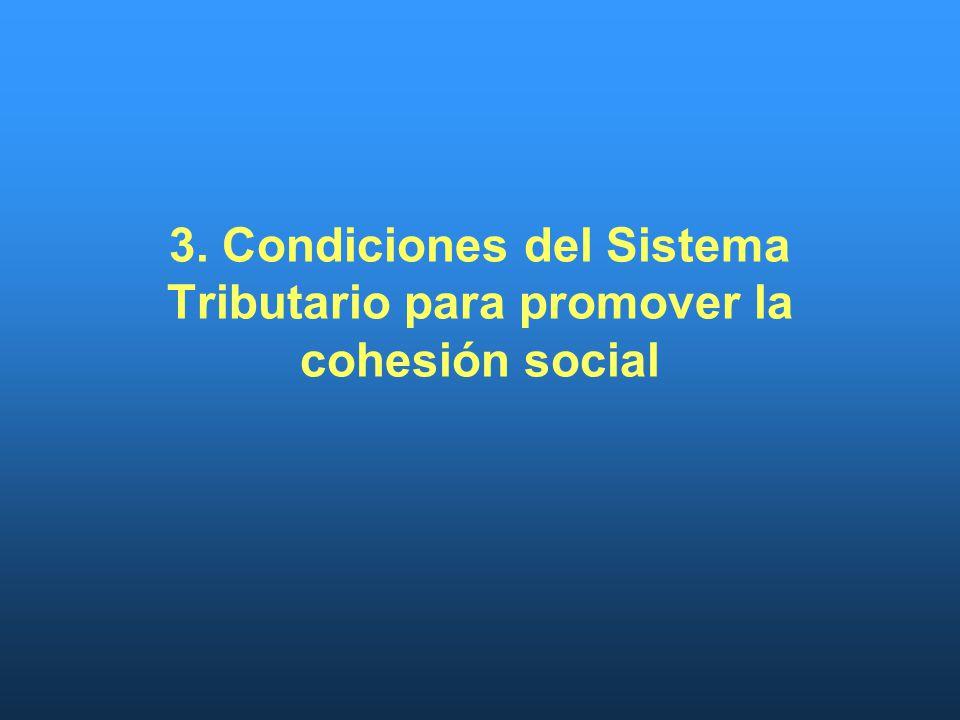 3. Condiciones del Sistema Tributario para promover la cohesión social