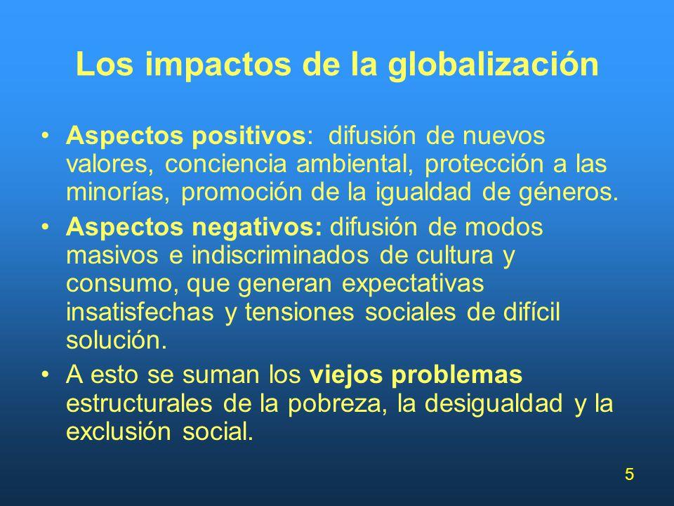 Los impactos de la globalización