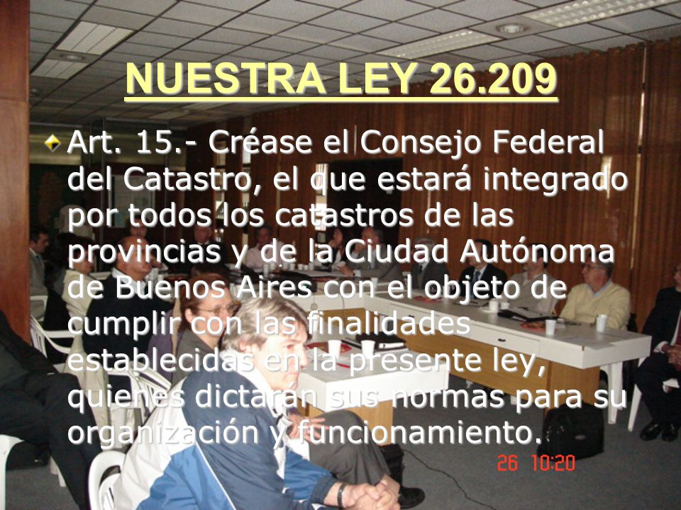 NUESTRA LEY 26.209