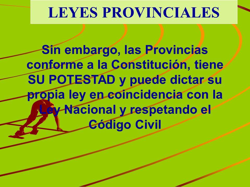 LEYES PROVINCIALES