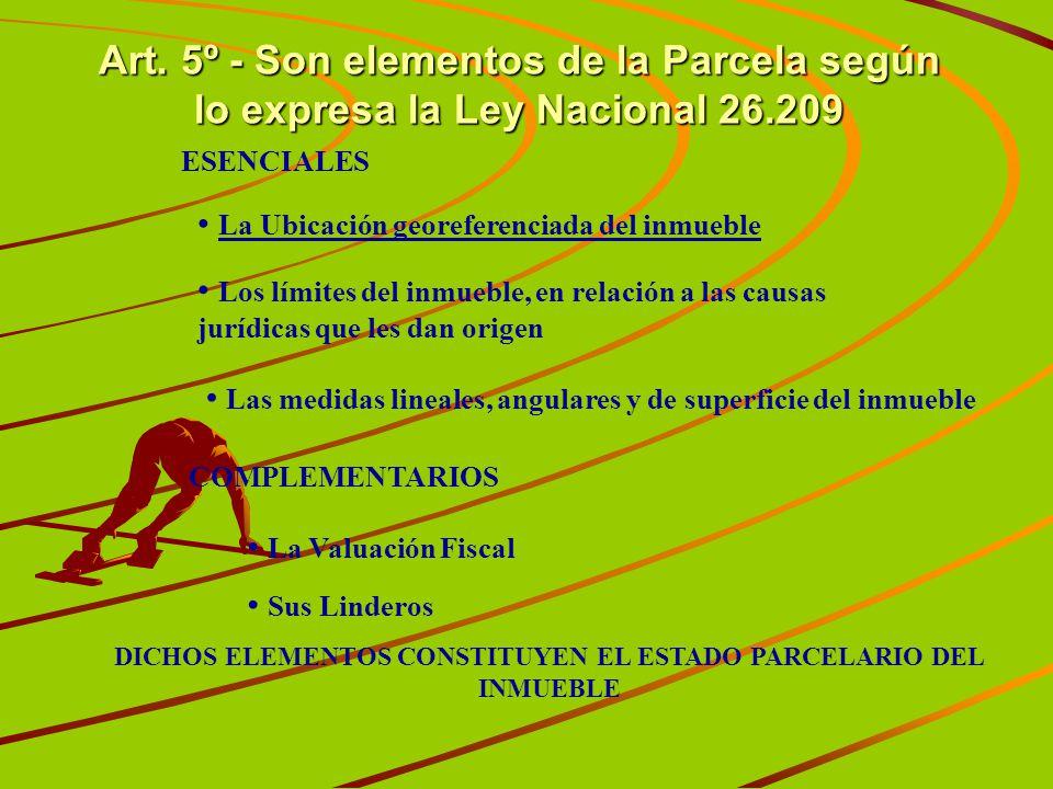 DICHOS ELEMENTOS CONSTITUYEN EL ESTADO PARCELARIO DEL INMUEBLE
