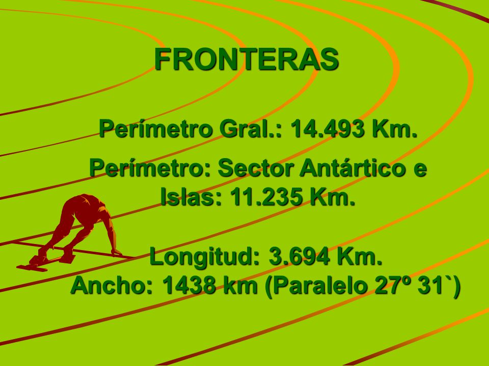 FRONTERAS Perímetro Gral.: 14.493 Km.