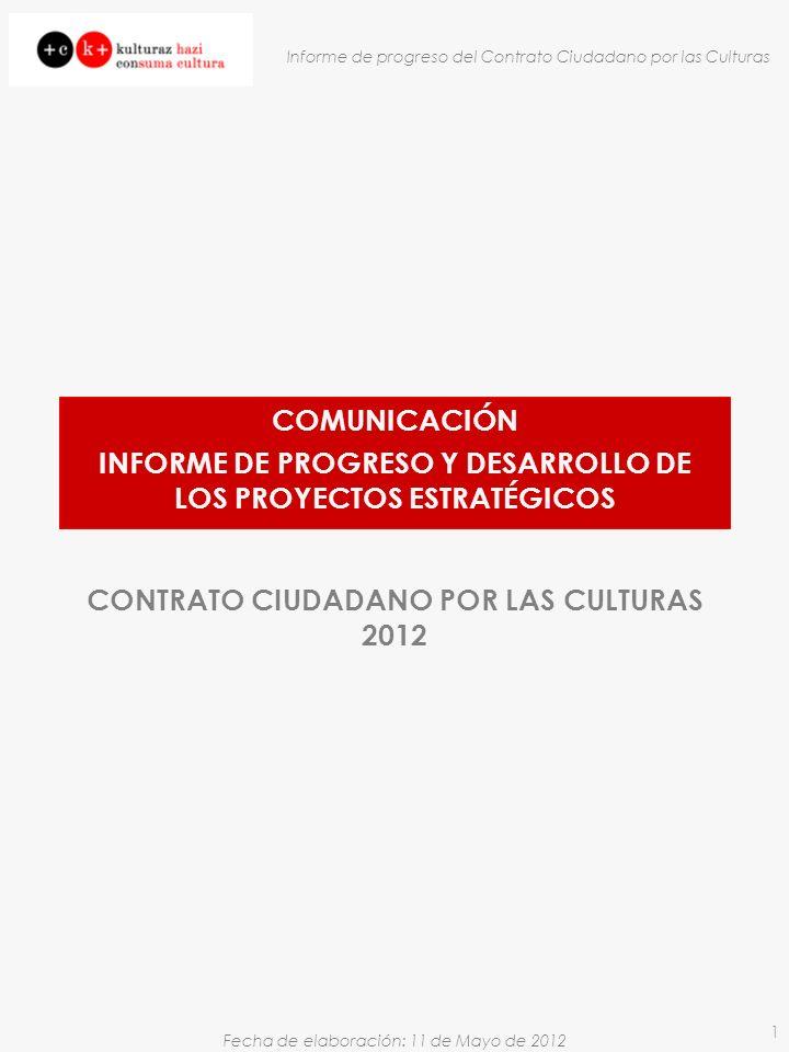 INFORME DE PROGRESO Y DESARROLLO DE LOS PROYECTOS ESTRATÉGICOS