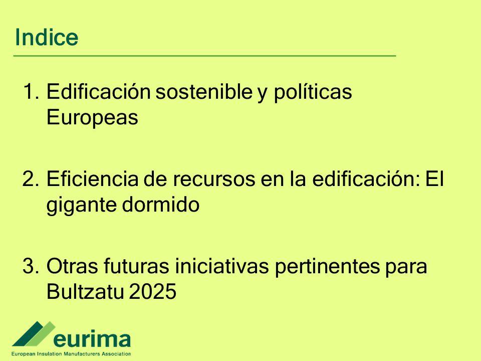 Indice Edificación sostenible y políticas Europeas