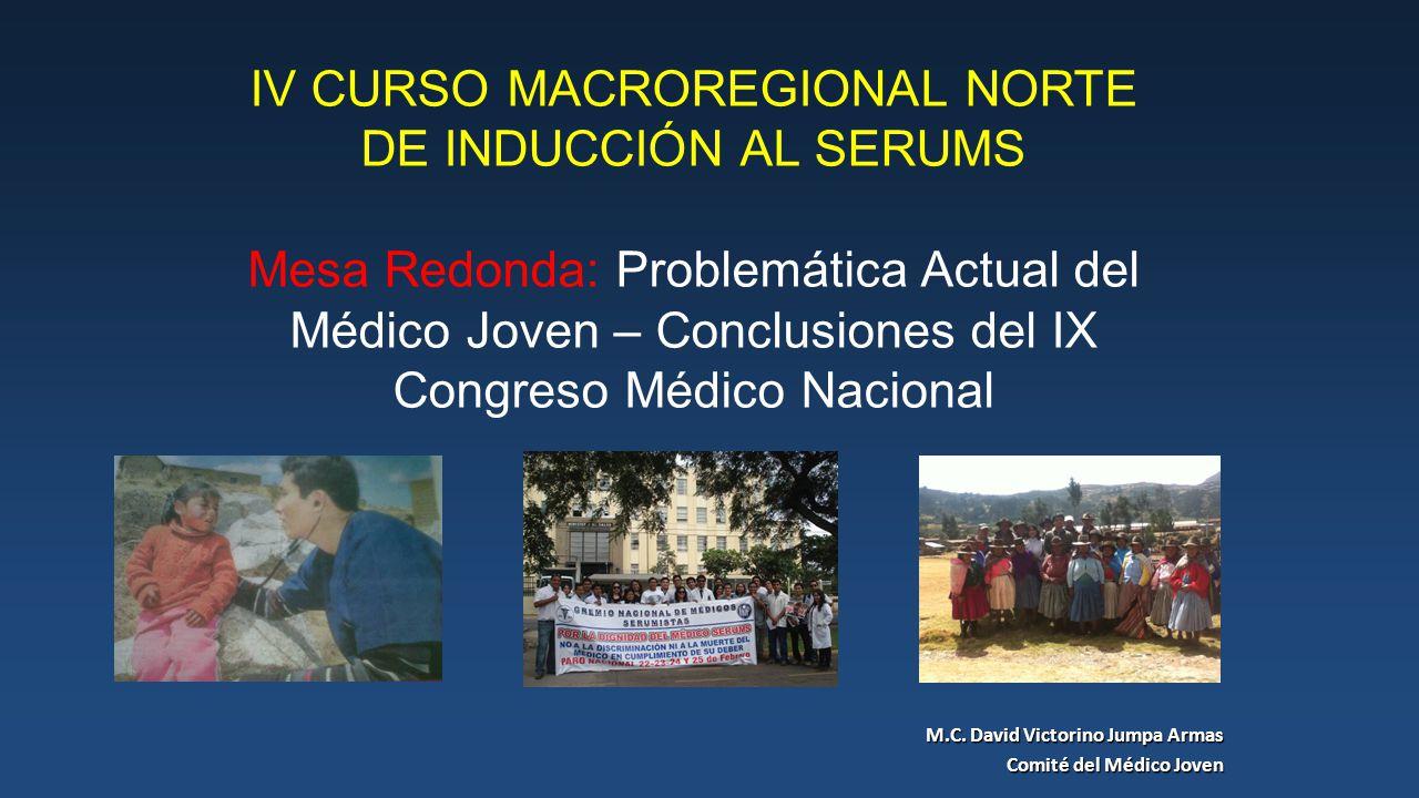 M.C. David Victorino Jumpa Armas Comité del Médico Joven
