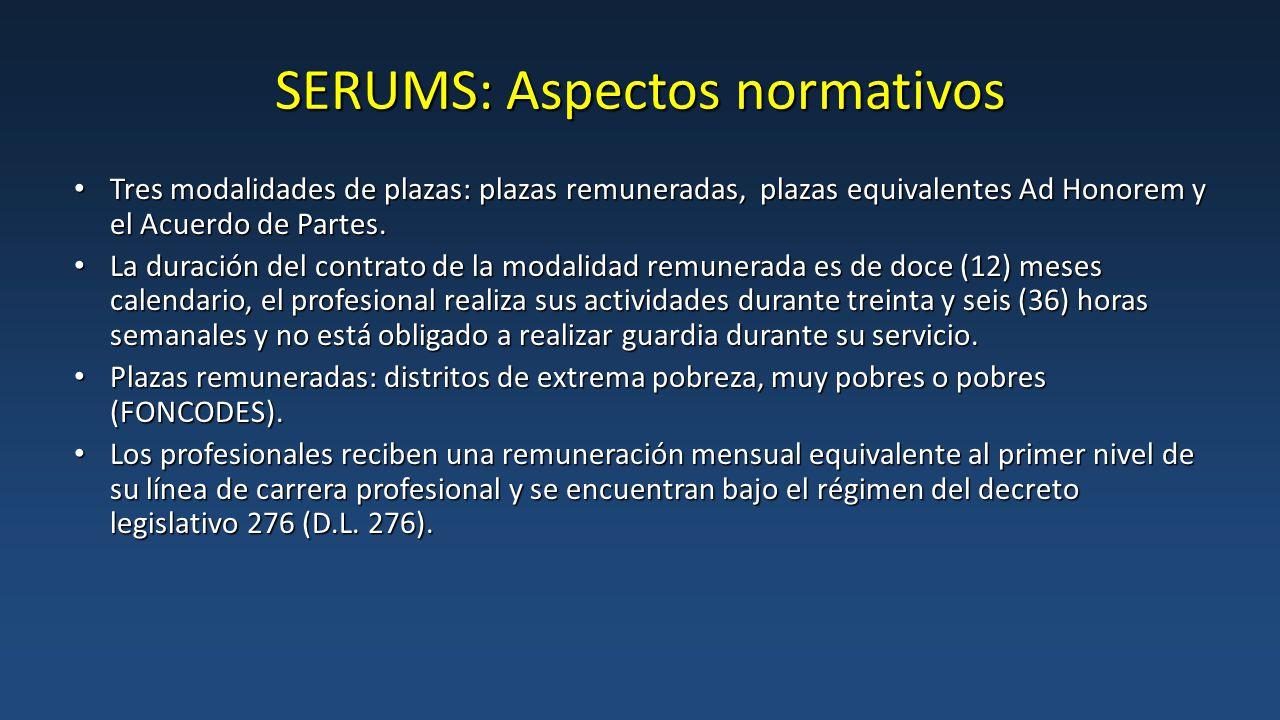 SERUMS: Aspectos normativos