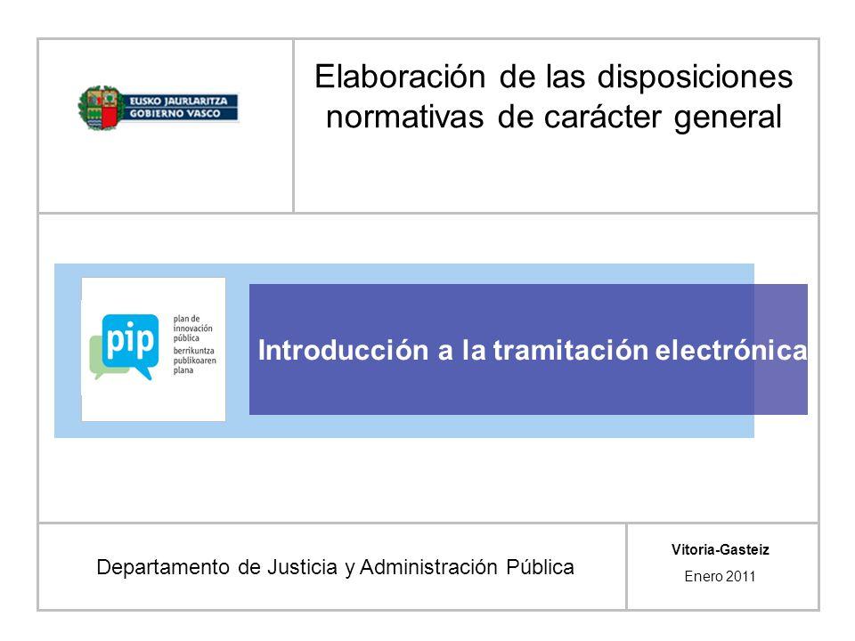 Elaboración de las disposiciones normativas de carácter general