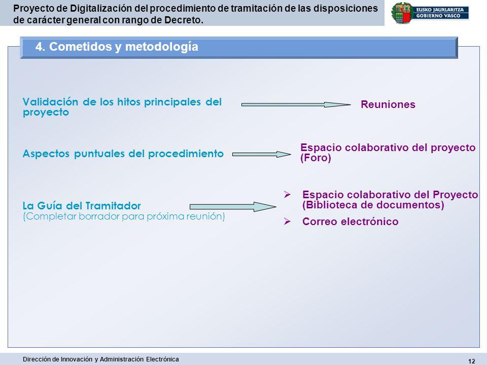 4. Cometidos y metodología