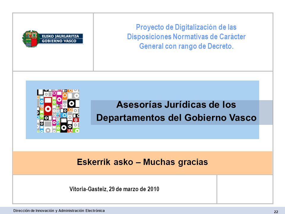 Asesorías Jurídicas de los Departamentos del Gobierno Vasco