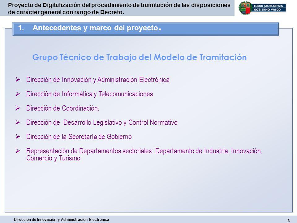 Grupo Técnico de Trabajo del Modelo de Tramitación