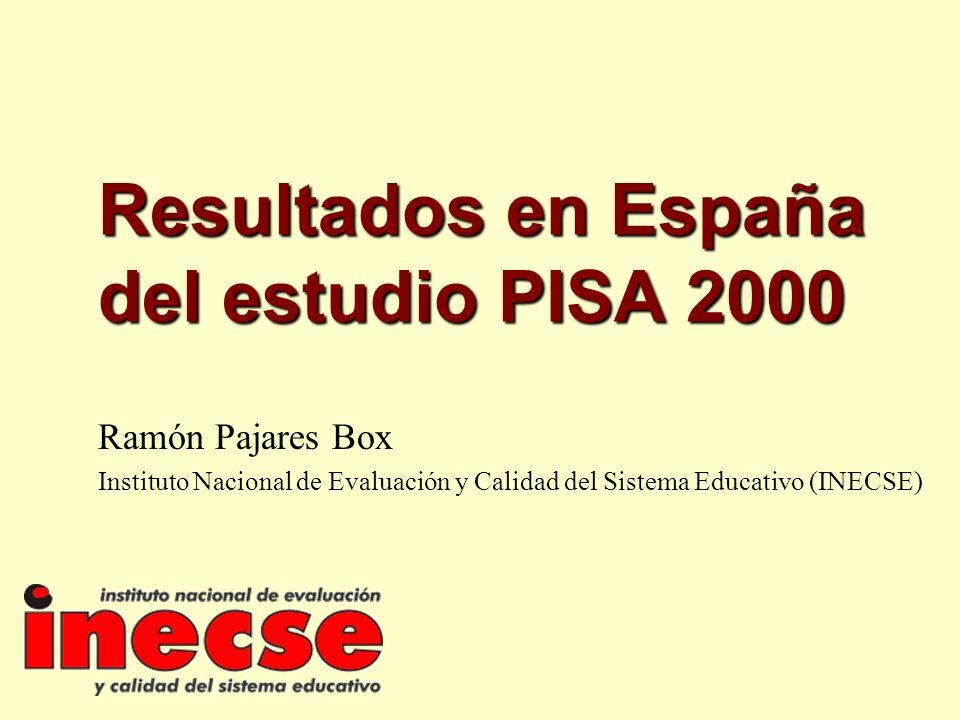 Resultados en España del estudio PISA 2000