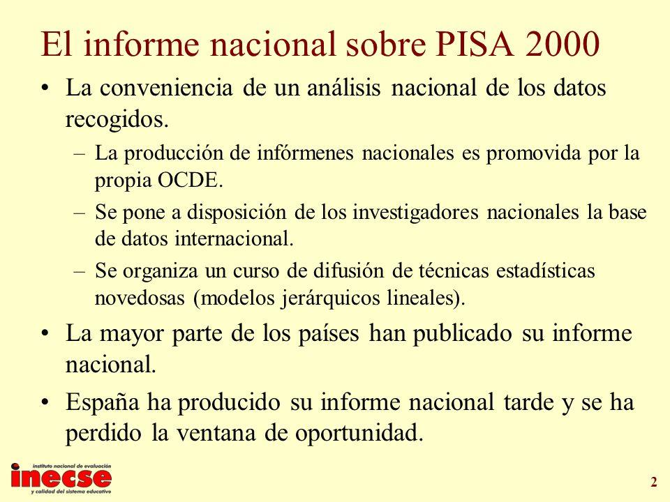 El informe nacional sobre PISA 2000