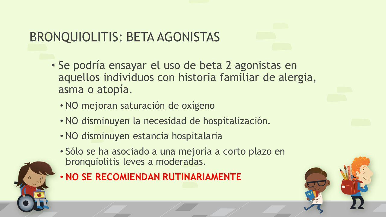 BRONQUIOLITIS: BETA AGONISTAS