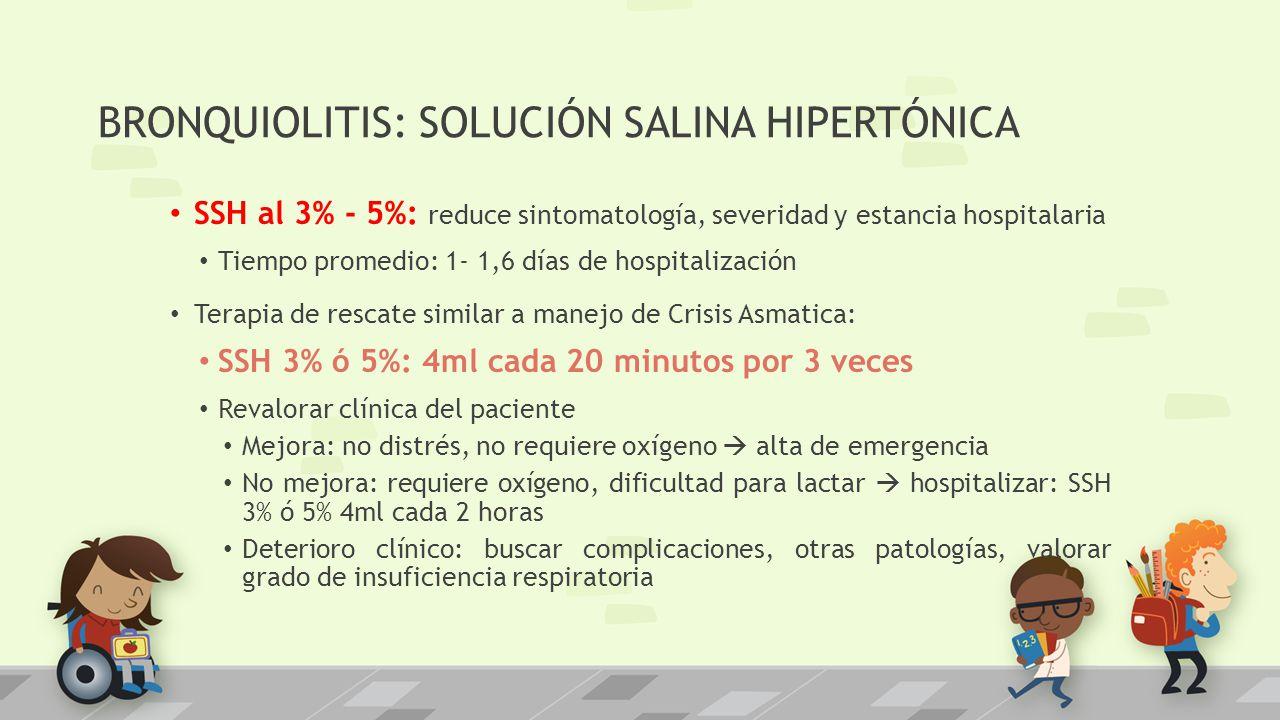 BRONQUIOLITIS: SOLUCIÓN SALINA HIPERTÓNICA