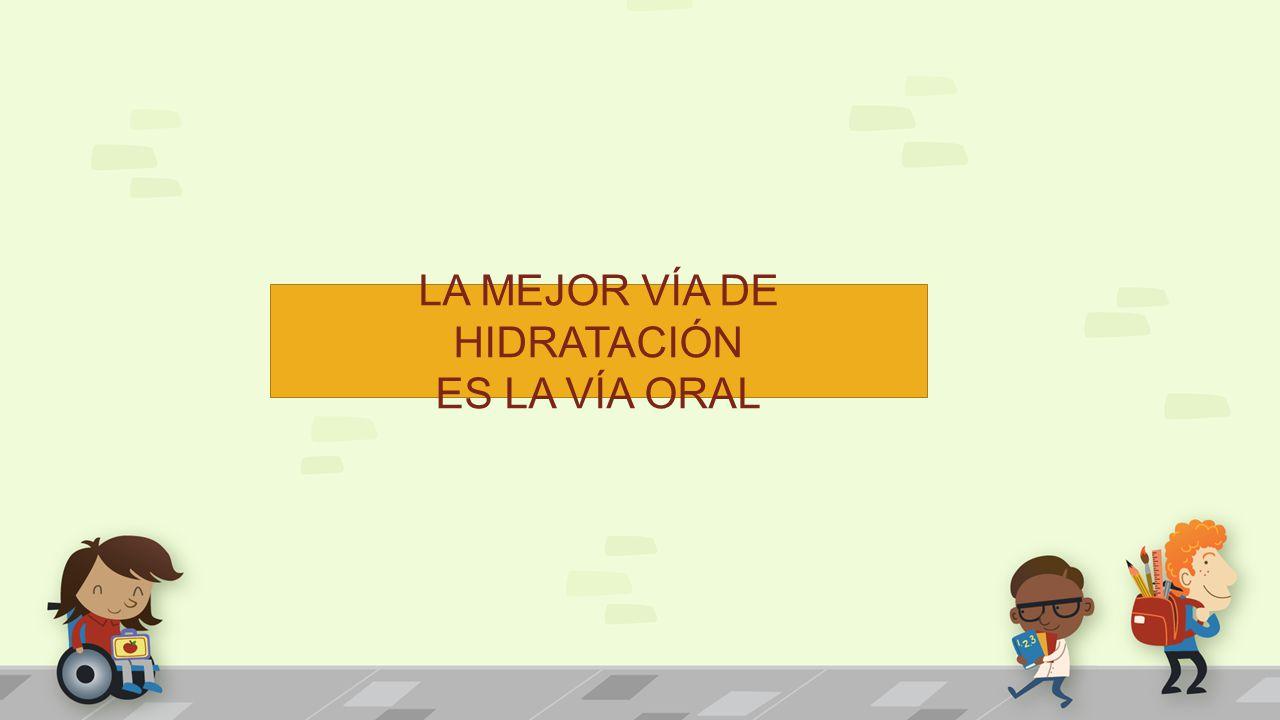 LA MEJOR VÍA DE HIDRATACIÓN